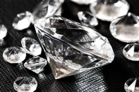 Luxury Diamonds on black leather