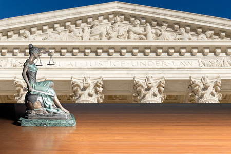 Lady Justice on The Supreme Court of U.S background