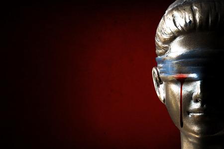 Themis (부정의 개념)의 눈물 스톡 콘텐츠