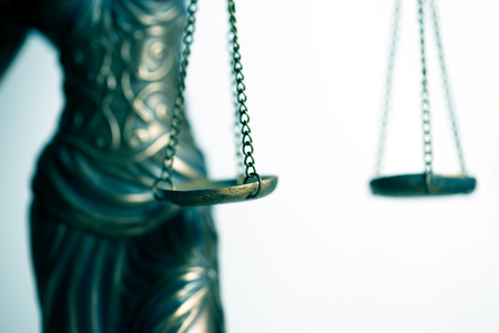 Scale of justice of Lady of Justice Stock Photo
