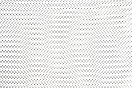 Steel cage isolated on white background Stock Photo