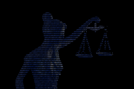 Lady justice on digital background (Concept of artificial intelligence lawyer) Reklamní fotografie