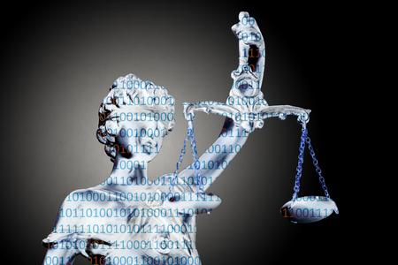 AI lawyer on grunge background