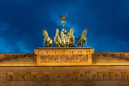 Brandenburg gate Berlin Germany at night