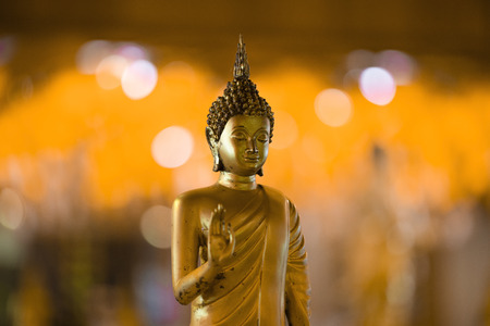 Buddha Statue on bokeh background