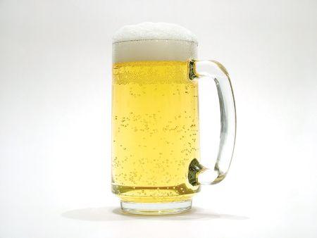 jarra de cerveza: Cerveza taza  Foto de archivo