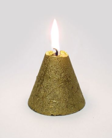 conical: Golden Conical candle