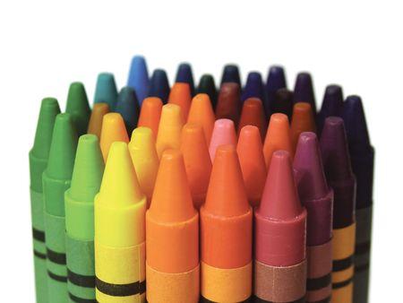 Color crey�n colecci�n  Foto de archivo