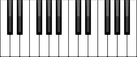 Teclado de piano virtual Foto de archivo