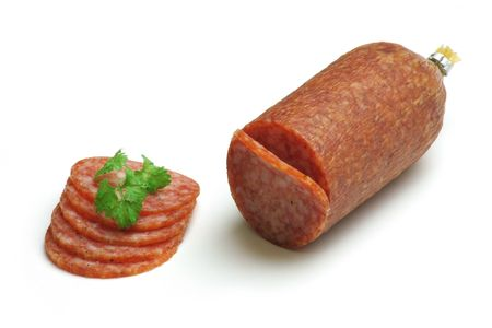 Salami slices Stock Photo - 298400