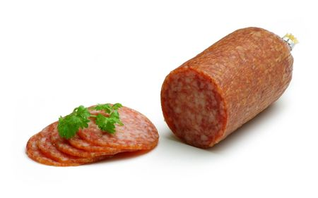 Salami slices Stock Photo - 298398