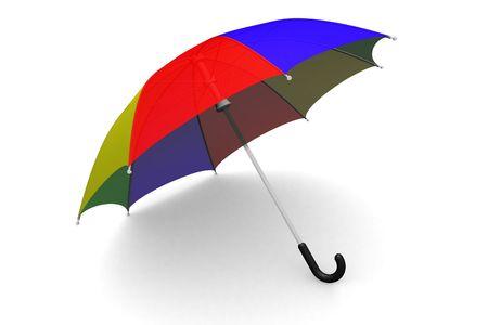 Coloridos paraguas en el suelo  Foto de archivo