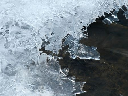 Close-up of an ice cover over the water in January Stock Photo - 305795