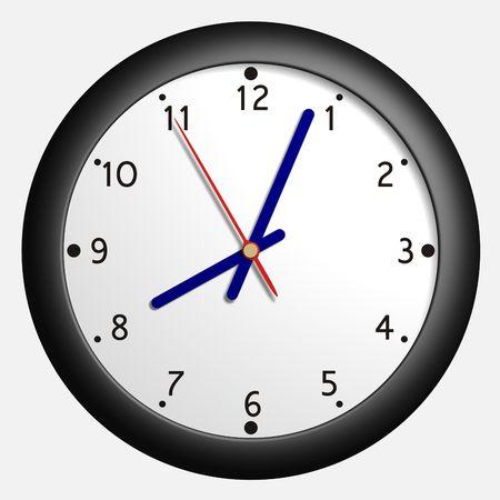 8 12: Simple virtual clock Stock Photo