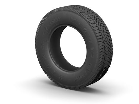 Detailed tire (3d render) Stock Photo - 332664