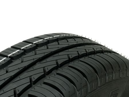 Close view of a tire