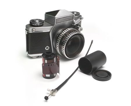oldies: Old photographic equipment pieces