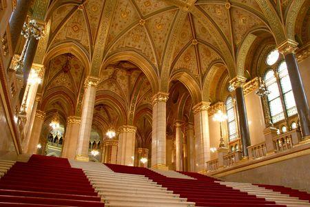 Budapest, vista interior del parlamento  Foto de archivo