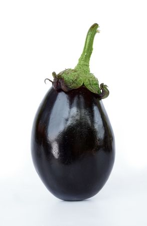 Isolated aubergine Stock Photo
