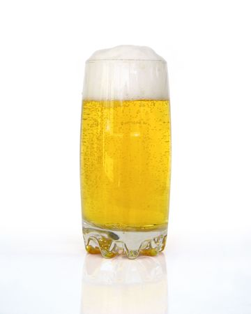 frothy: Frothy fresh beer Stock Photo