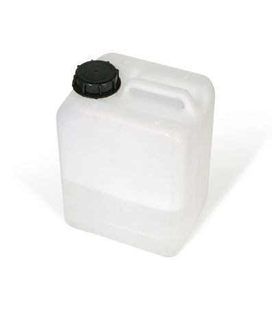 solvent: White plastic bottle (w clipping path)