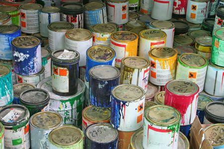 solvent: Paint cans