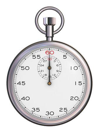 elapsed: Stopwatchs top view (3d render)