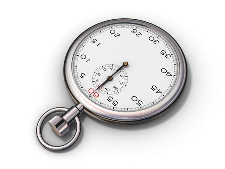 elapsed: Stopwatchs perspective view (3d render)