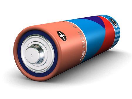 aa: R6 size AA battery (3d render)