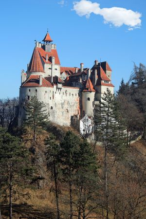 Back view of the Bran Castle, Romania photo