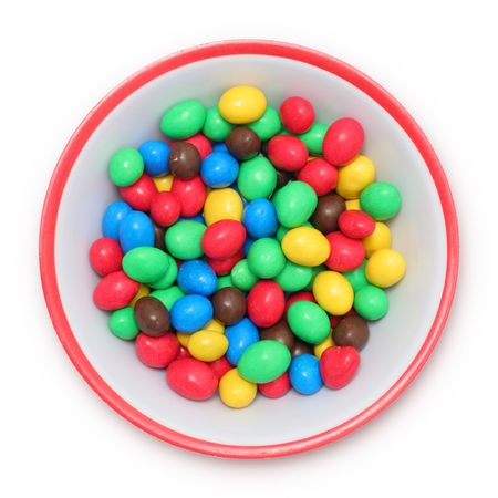 Top view of candy drops in plate Stock Photo - 733285