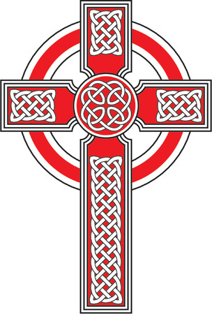 irish culture: Celtic cross with detailed ornaments