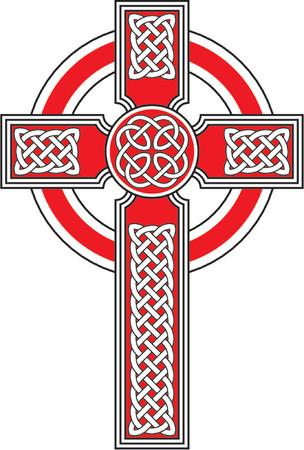 croce celtica: Traversa celtica con gli ornamenti dettagliati