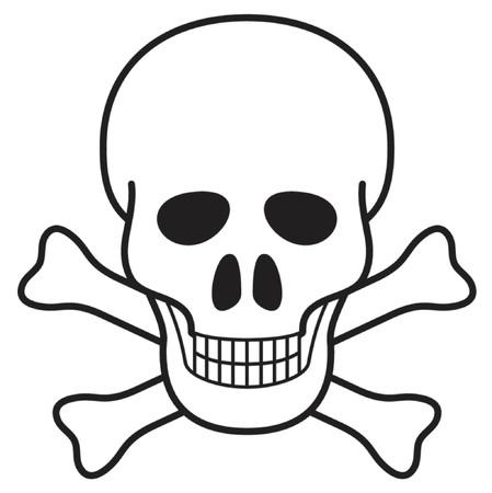 Basic illustration of a skull, representing danger Stock Vector - 839147