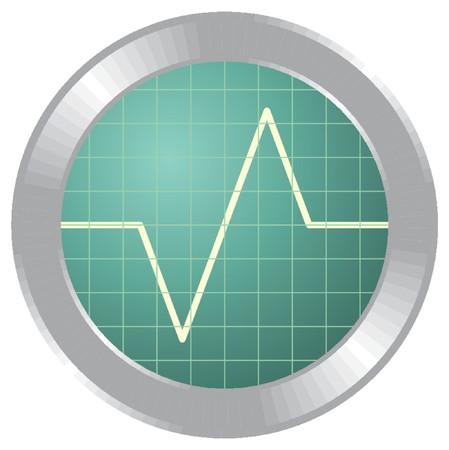 oscilloscope: Illustrazione di oscilloscopio e di un triangolo a forma di segnale