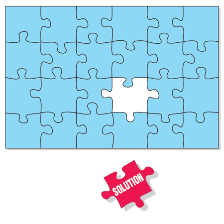 incomplete: Puzzle pieces, the Solution piece is missing