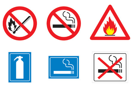 Miscellaneous symbols and signs realted to fire Vector