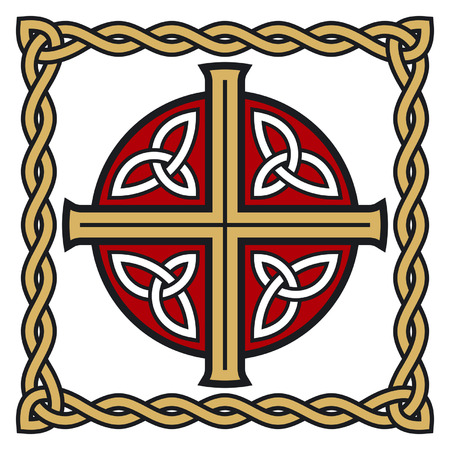 celtic cross: Symbolic celtic cross with detailed ornaments