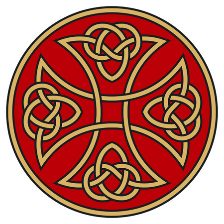 keltisch: Symbolische keltische Kreuz mit detaillierten Verzierungen