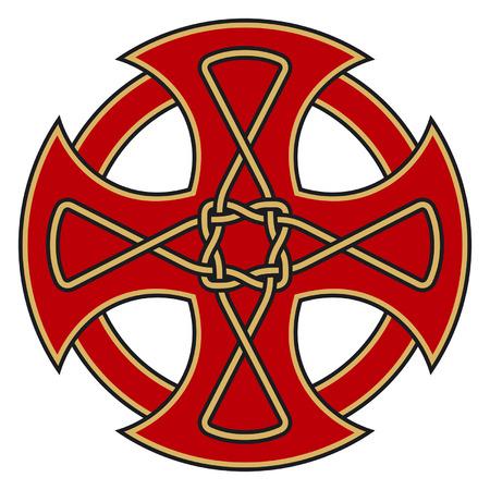 croce celtica: Simbolico croce celtica con ornamenti dettagliate