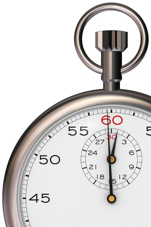 elapsed: Stopwatch showing one minute elapsed time