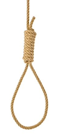 Hanging noose rope [isolated on white]
