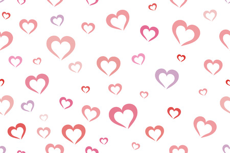Seamless colorful hearts background [vector illustration] Vector