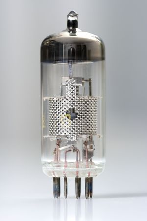 triode: Vacuum tube - old electronic component, semiconductor device, the predecessor of the transistor Stock Photo