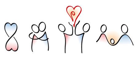 Concepci�n iconos de amor a los ni�os Vectores