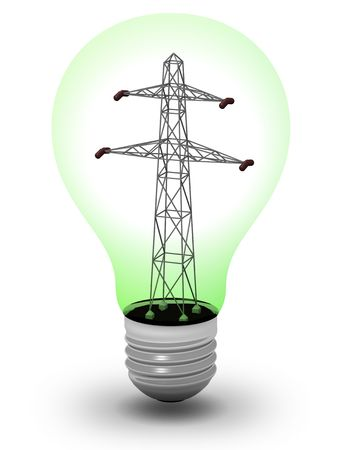 Light bulb with a power line inside Stock Photo - 6824277