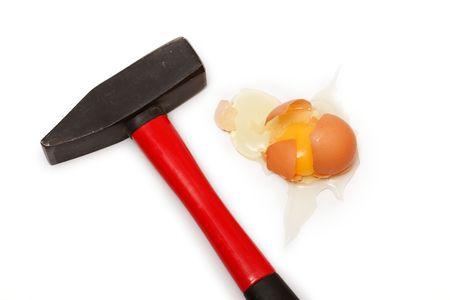 przewymiarowany: Surowy jaj krakingu młotkiem zbyt duży