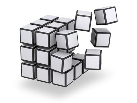 cubo: Flotante piezas de montaje o desmontaje cubo de 3 x 3