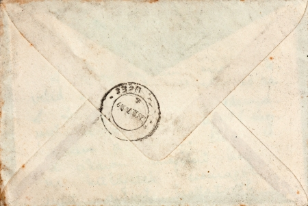 Old closed blank mail envelope with stamp Stock Photo - 14831723