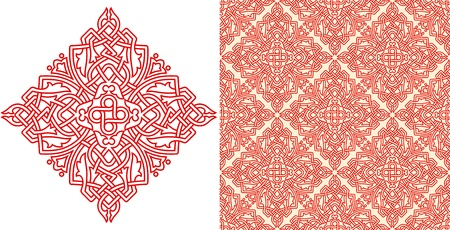 Seamless pattern and a separate element Stock Vector - 15027947